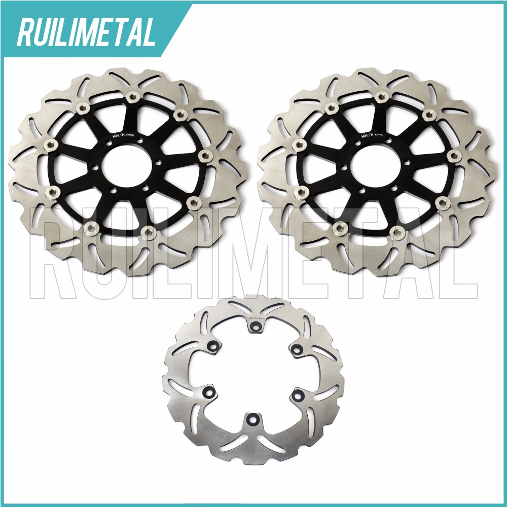цены  Full Set Front Rear Brake Discs Rotors For YAMAHA XJR 400 1995 1996 1997 1998 1999 2000  FZR 600 1989  FZR R 600 1990-1995