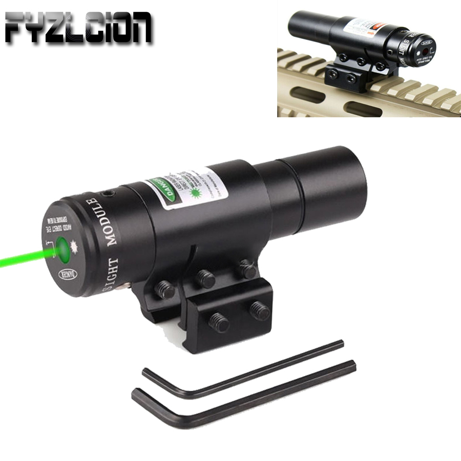 High Quality Tactical Hunting Green Dot Laser Sight Scope 20mm Rail Picatinny Mount Gun New Shoting