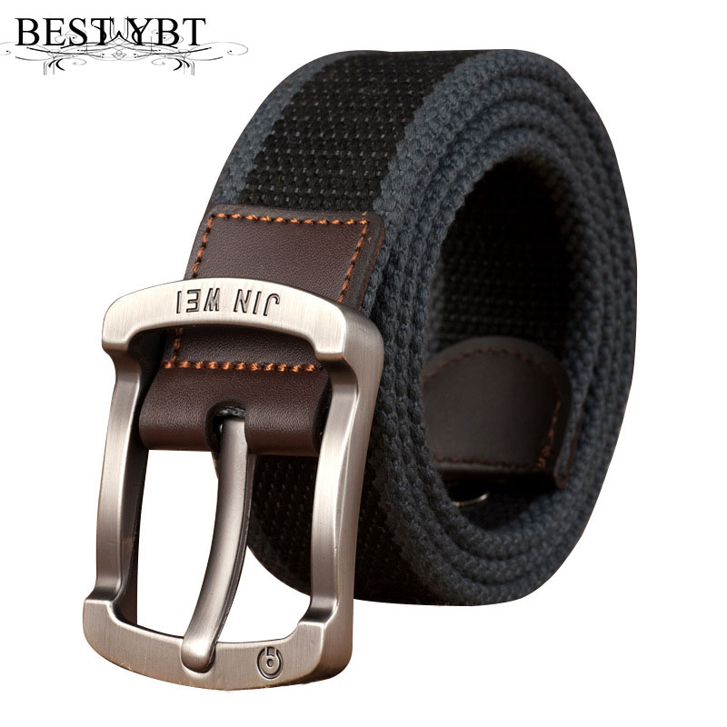 Best YBT Unisex Belt Canvas Alloy Pin Buckle Casual Men And Women Belt Military  Outdoor Tactical High Quality Unisex Belt