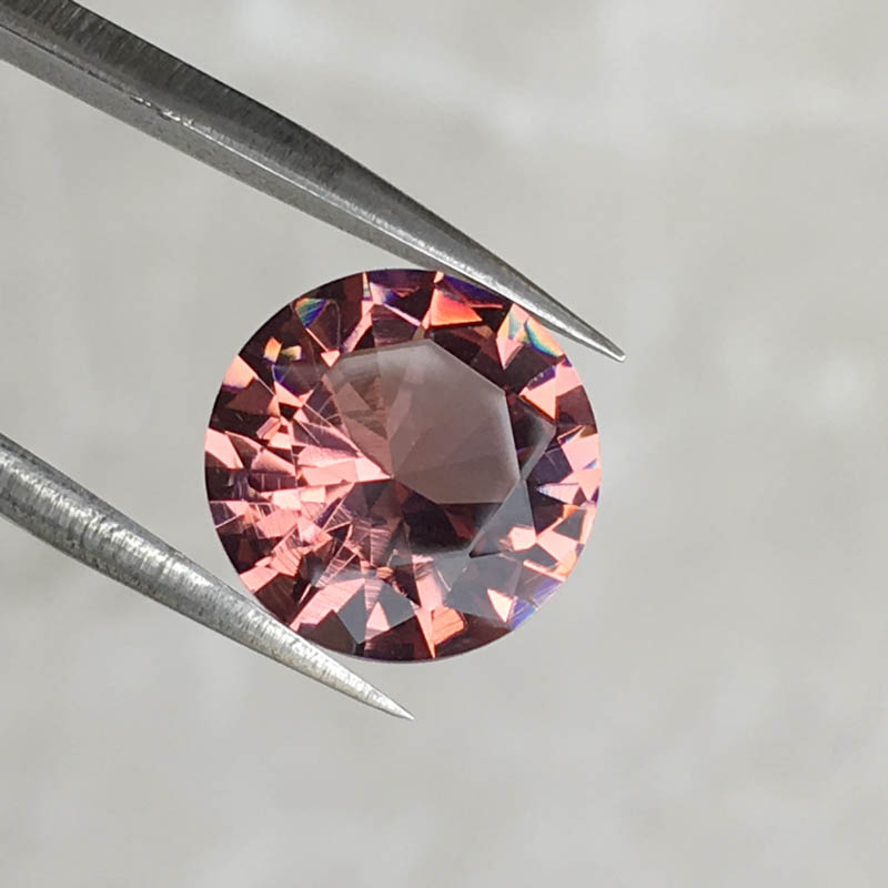 CSJ Created Diaspore Zultanite Round Cut Loose Gemstone Sultanite For Diy Fine Jewelry 925 Silver Mounting Color Change Stone