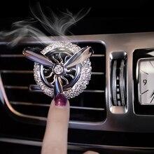 Автомобиль орнамент Diamond ABS Декор освежитель воздуха вентиляционные духи клип авто Интерьер Air Force 3 винта Форма аромат диффузор подарок