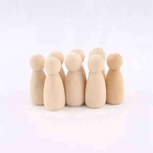 Image 4 - peg doll set of 40pc wood Family doll toys(43mm/55mm) unfinished unpainted Weddings Cake Doll Garden room Decor Handmade