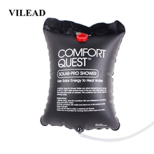 цена на VILEAD 20 L Camping Shower Water Bag Portable Folding Solar Energy Heated Camp PVC Travel Shower Bag Outdoor Camp Water Storage