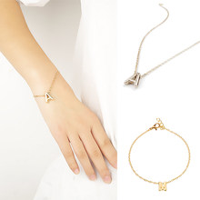 Fashion Gold Color Letter Bracelet & Bangle For Women Silver Adjustable Name Bracelets Jewelry Female Gift Pulseras Mujer(China)
