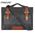 MOSISO Woolen Felt Laptop Notebook Shoulder Bags Women Men Messenger Bag Briefcase Handbag 13 13.3 15.6inch Computer Cover Case