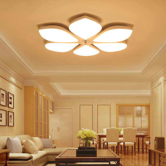 Remote Control Modern LED Ceiling Lights Fixtures For Bedroom Dining Room Brightness Dimmable Simplicity Lamp