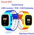 Relógio de rastreamento gps wifi tela de toque q90 localização smart watch crianças SOS Chamada Localizador Rastreador para As Crianças em Segurança Anti Perdido Monitor de