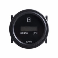 Free Shipping LCD Round Hour Meter AC 86 230V Timer Hour Meter
