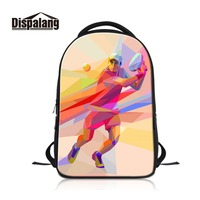Dispalang Very Good Laptop Backpacks For Men Novel Computer Dailybags For College Students Print Tenniss Pattern