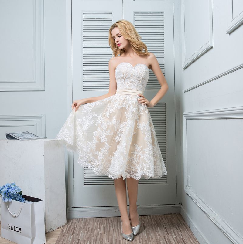 New Bridal Wedding Gown Centre: New Fashion Short Wedding Dress Sweetheart Champagne