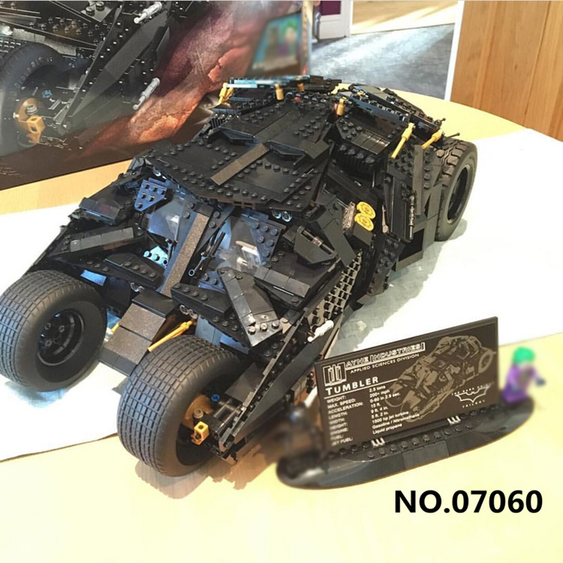 Lepin 07060 1909PCS Super Hero Series The Tumbler Batman Armored Chariot Sets Model Building Kits Blocks Bricks Boys Toys 76023 new lepin 07037 758pcs avenger superheroes batman killer croc sewer smash model building kits blocks