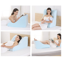 NOYOKE Memory Foam Back Cushion Soft Comfort Breathable Bed Backrest Pad Detachable Slow Rebound Cushions