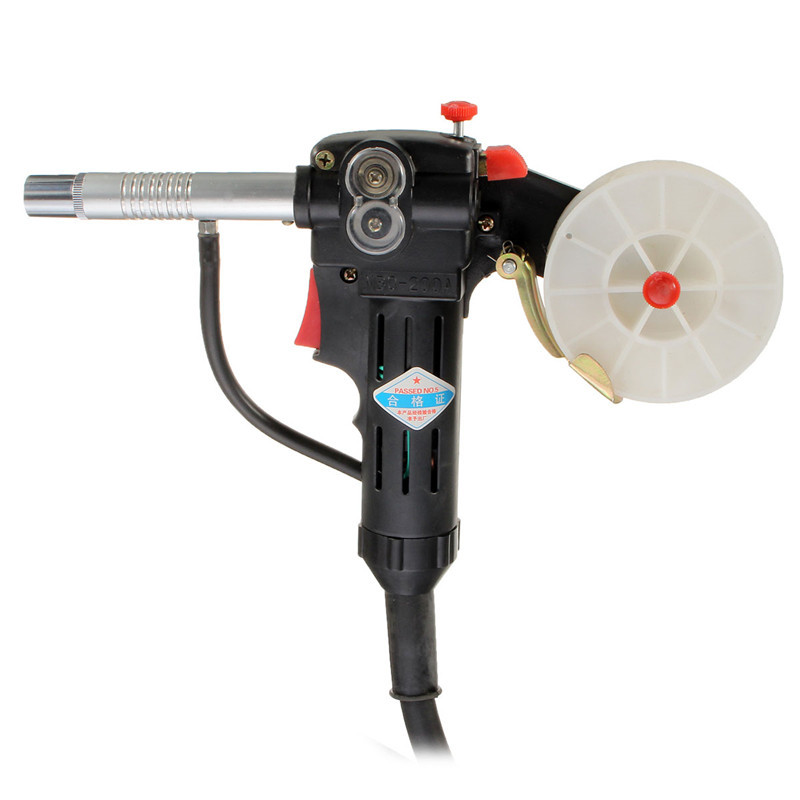 Hot Sale NBC-200A Miller MIG Spool Gun Pull Feeder Aluminum Welding Torch With 1m Cable 200A   Cycle For High Welding