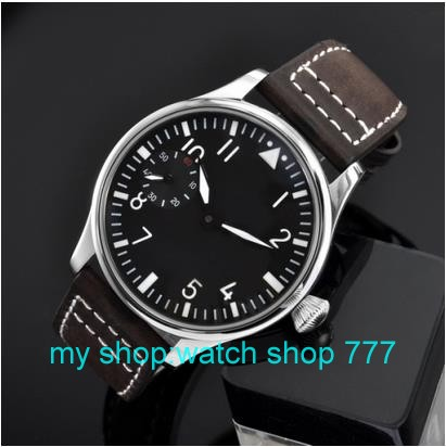 2016 new fashion 44mm PARNIS pilot 6497 Mechanical Hand Wind movement men s font b watch