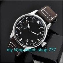 2016 новая мода 44 мм ПАРНИС пилот 6497 Механическая Рука Ветер движения мужские часы оптовая x0001