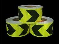 Yemingduo 25M Long Self Adhesive PVC Reflective Safety Warning Tape Road Traffic Construction Site Reflective Arrow