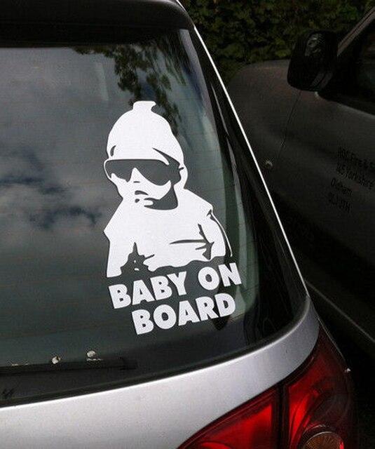 Safty del bebé a Bordo de Coches Noche Reflexivo Pegatinas de coche de la Etiqueta engomada Impermeable cubre