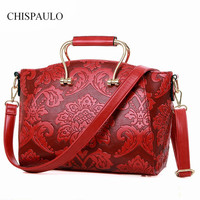 2017 Women Bag Top PU Leather Handbag Shoulder New Arrival Crossbody Luxury Ladies Casual Tote Famous Brand Chinese Style