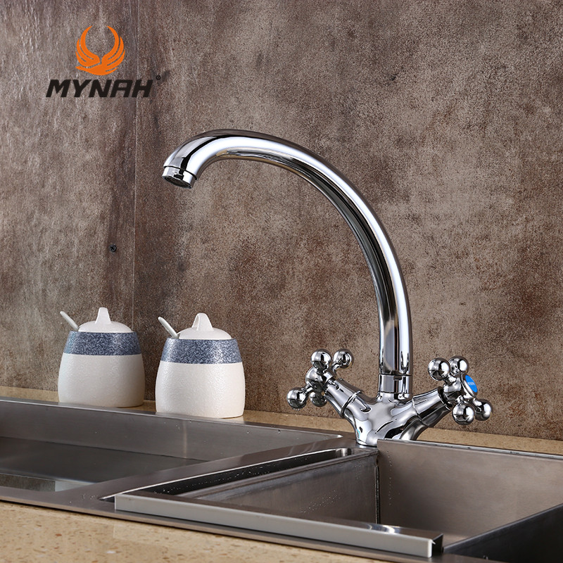 MYNAH Russia Free Shipping Modern Style Kitchen Faucet Sink Mixer Crane Contemporary Swivel Faucet Kitchen Accessories