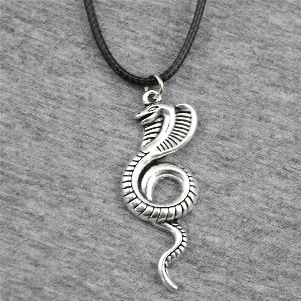 WYSIWYG 49x19mm Cobra Pendant Necklace, Vintage Men Necklace Jewelry Vintage Jewelry Dropshipping 2018 New Arrivals Ювелирное изделие