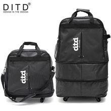DITD 28 to 30 deformation luggage Unisex foldable Travel bag Large Capacity High Quality Luggage Free Shipping Rolling