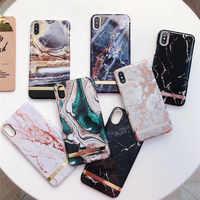 Étui pour iphone 7 en marbre agate brillant étui pour iphone 6 6 s 7 8 plus X XR XS Max coque de téléphone capa