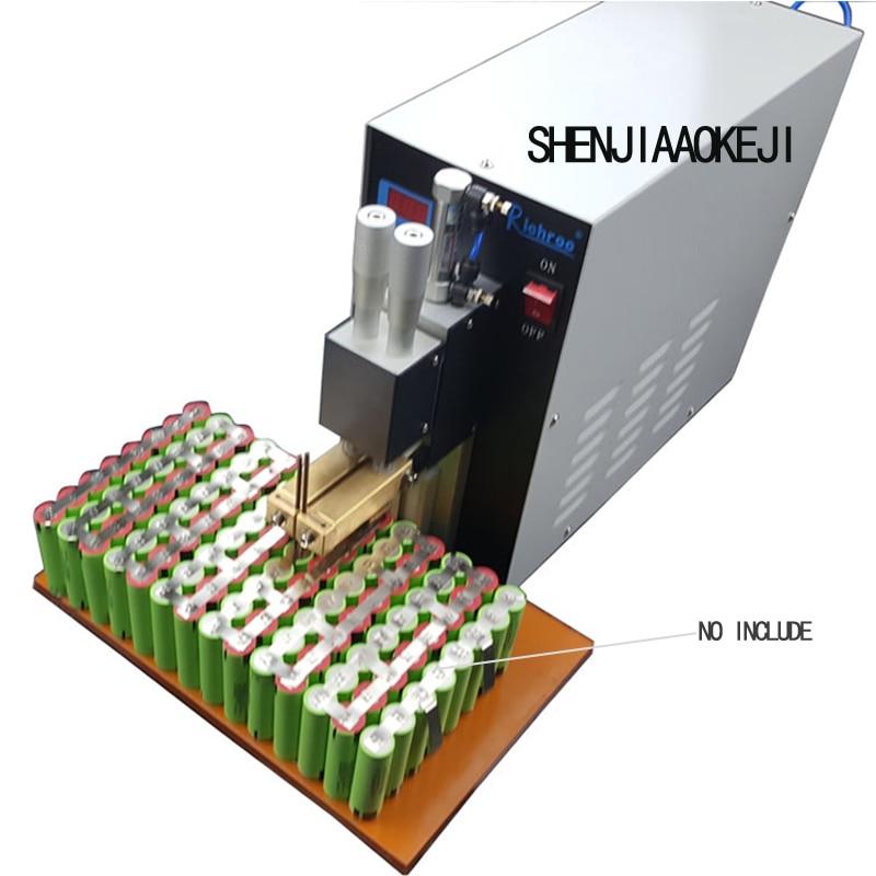 1PC 220V Pneumatic Spot Welding Machine Lithium Battery Two point Type Spot Welder Small Handheld DIY