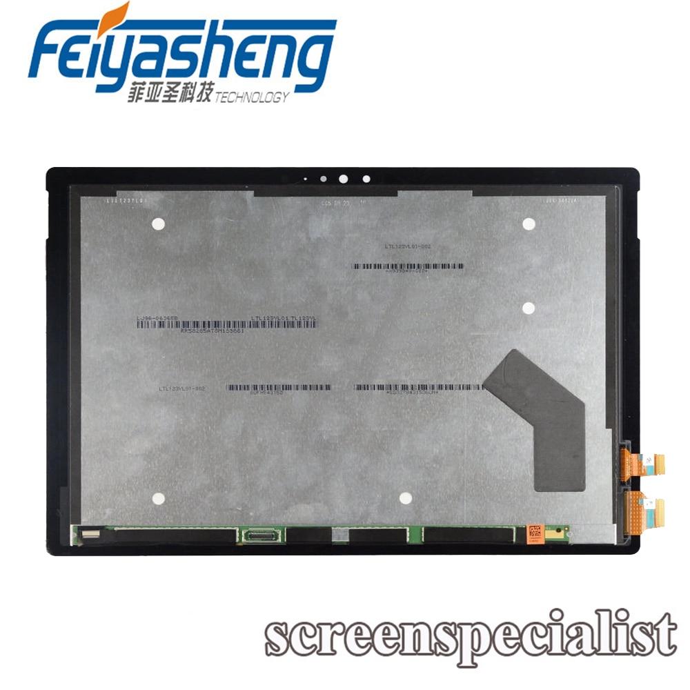 10 Pcs Neue Für Microsoft Oberfläche Pro 4 Touch Digitizer + Lcd Display Montage V1.0 2736x1824