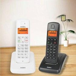Espanha língua russa telefone sem fio fone de ouvido sem fio com id chamador interfone interno handfree para casa