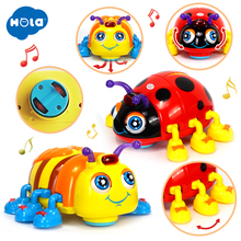 Купить с кэшбэком Action Brinquedos Primeira Infancia Eletronicos Puzzle Insect Toys with flashing light Baby Toys Free Shipping 82721D Ladybug