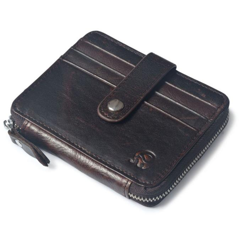 New Arrival High Quality Men's Genuine Leather Cowhide Bifold Wallet ID Credit Card Holder Coin Purse Gift carteira masculina high quality men genuine leather organizer wallet vintage cowhide clasp card holder coin purse vintage carteira masculina 1011