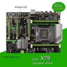 1pc X79 Turbo moederbord LGA2011 ATX USB3.0 SATA3 PCI-E NVME M.2 SSD ondersteuning REG ECC geheugen en Xeon E5 processor Newest