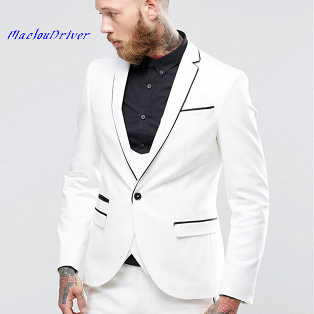 Cheap One Button Groom Suits mens rhinestone suits Notched Lapel ...