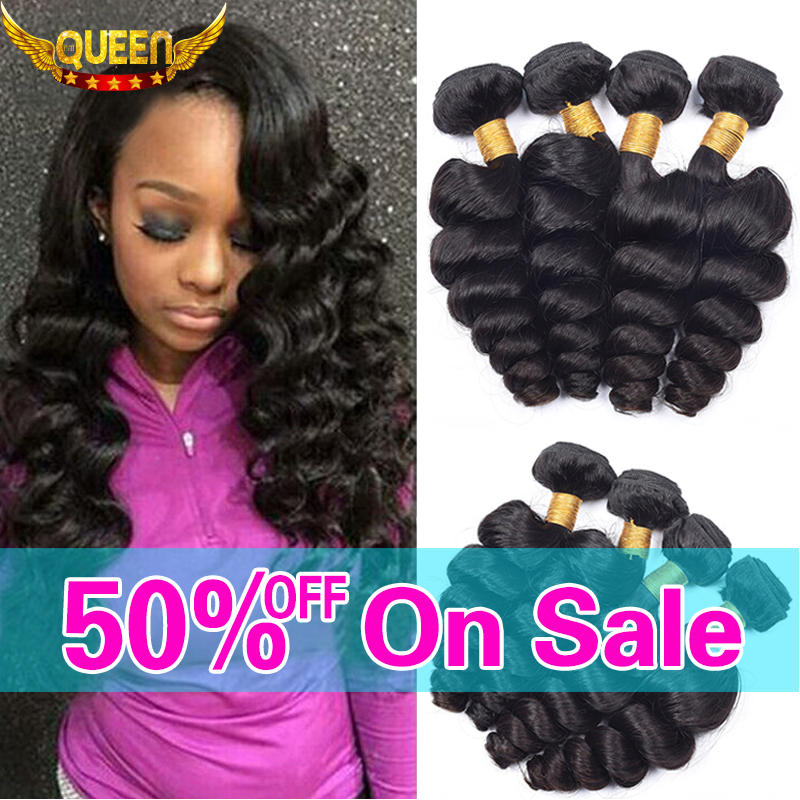 Brazilian Virgin Hair Loose Wave 4 Bundles 7A Unprocessed Virgin Human Hair Loose curly Brazilian Loose Wave Virgin Hair Bundles
