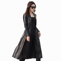 Genuine Leather Jacket Women Clothes Trench Coat Spring Autumn Sheepskin Coat Women Slim Fit Korean Elegant Windbreaker ZT530