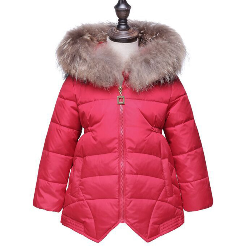 Girls Winter Jackets Coats Children's Casual Fur Hooded  Warm Parka Down Kids Ultra light down Clothes  kids Outwear Clothing