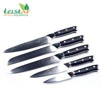5 шт Кухня Набор ножей 67 слой японский VG10 Дамаск Сталь Секач шеф повара Santoku ножи для чистки овощей и фруктов G10 ручка