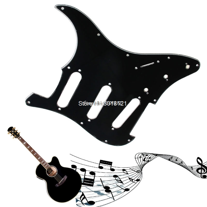 1 шт. 3ply Гитары накладку к царапинам пластины для Fender Strat Запчасти жемчуг черный Гитары Запчасти Прямая поставка