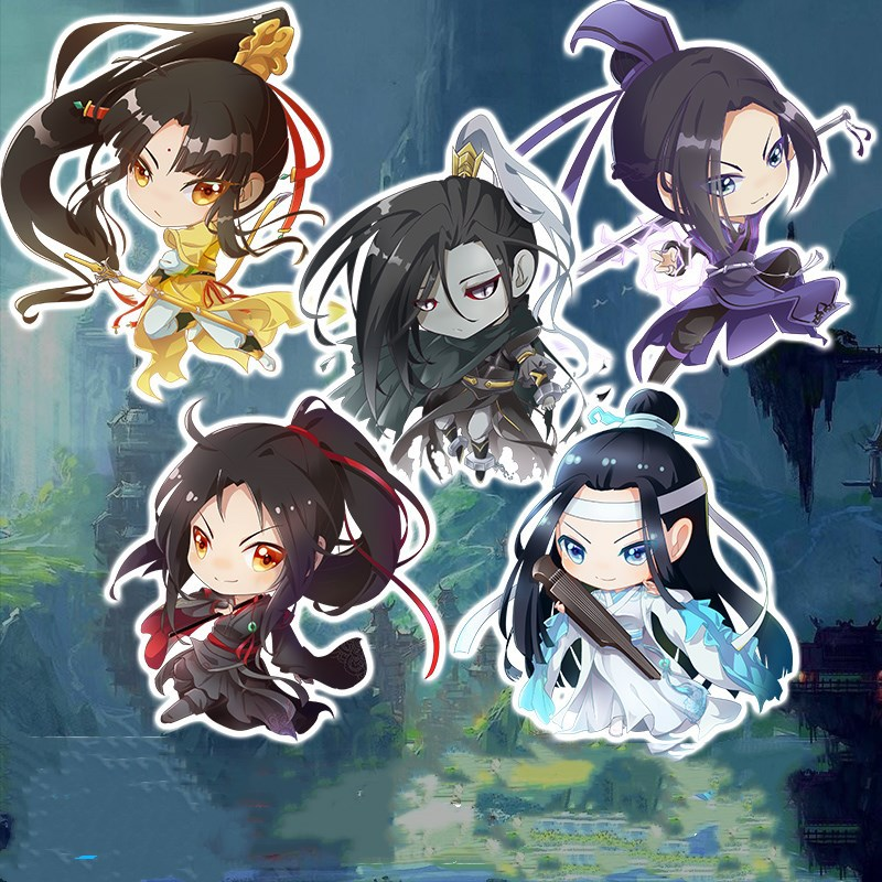1Pcs 6cm Anime Mo Dao Zu Shi Key Chain Acrylic Mobile Keyring Pendant Decorative Key Holder