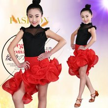 Child Sexy Ballroom Dance Dress Girl Latin Dance Dress For Competition Dancewear Kid Costume Ballet Vestido Baile Latino 89