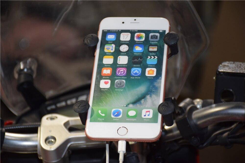X-Grip Phone Holder For SUZUKI GSXR 600750 GSXR600 GSXR750 06-17,GSXR1000 09-16 Motorcycle GPS Navigation Bracket 16-19mm
