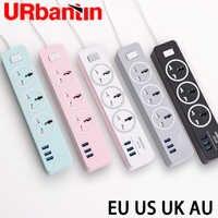 Urbantin USB multiprise prise Intelligente de charge Rapide USB prise universelle avec UE UK USA D'AU prise Multi prise multiprise