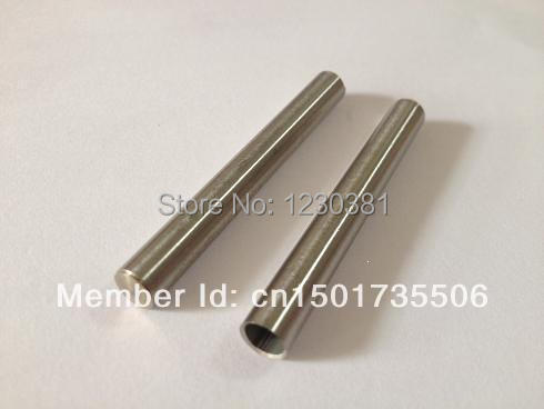 10pcs 6x50mm stainless steel casing with sealed bottom sleeve husk