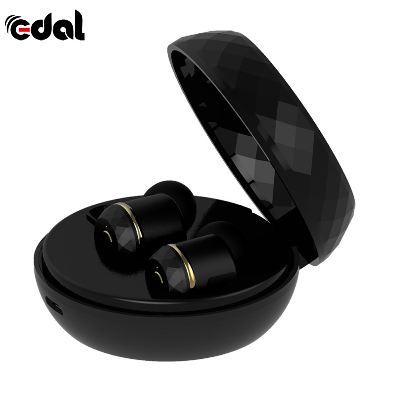 EDAL I7s Mini Wireless Bluetooth Stereo Headset Bluetooth 4.1 Earphone Headset Handsfree with 2000 mAh Charging Dock Box remax 2 in1 mini bluetooth 4 0 headphones usb car charger dock wireless car headset bluetooth earphone for iphone 7 6s android