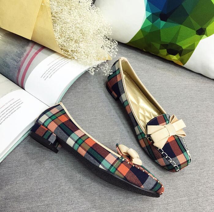 Plus-Size-35-42-Fashion-Women-s-Shoes-2018-Spring-New-Women-Flats-Plaid-Cotton-Fabric (5)