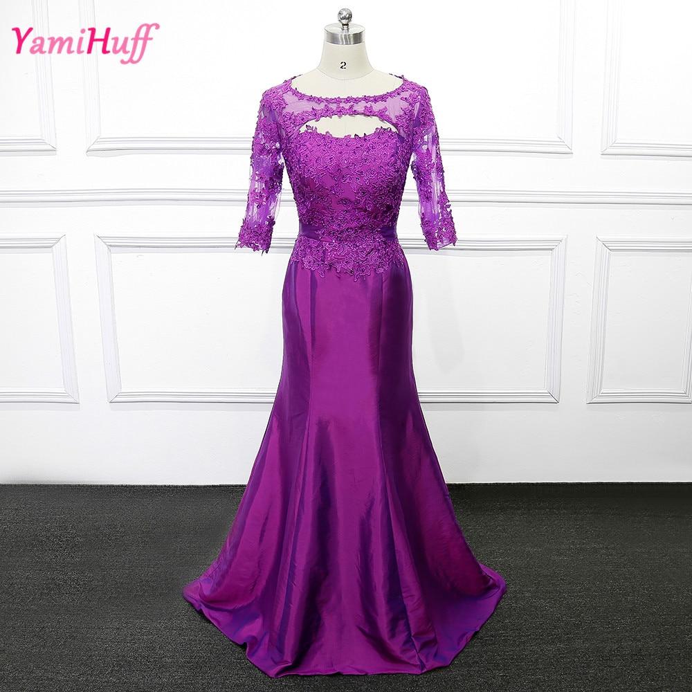Purple Elegant Mother Of The Bride Dresses Lace Mermaid