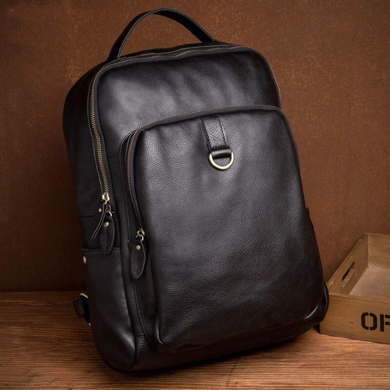 Женский рюкзак из натуральной кожи мужские функциональные сумки мужской рюкзак большой емкости унисекс сумка школьные сумки Дорожная сумк