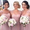 2017 длинные платья невесты платья круглым воротом снег спинов онлайн пыльной розы розовые платья невесты свадебное платье