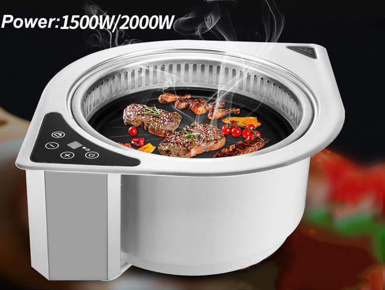 Commercial Embedded Electric Oven Far Infrared Barbecue Roaster Korean Self service BBQ Machine for Restaurant GER 2000DCT
