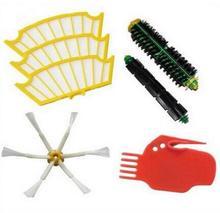 7 шт./лот боковая щетка + фильтр + набор инструментов замена пылесосы Roomba 500 527 528 530 532 535 540 555 560 562 570 572 580 581 590